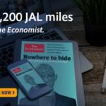 【JAL】The Economist(エコノミスト)と提携!年間購読で最大4200マイルもらえます