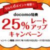 【ドコモdocomo】今ならdポイントをJALのマイルへ移行すると25%ボーナスがもらえます