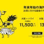 【スクート】シンガポール、ホノルル線対象のセール!片道11500円~