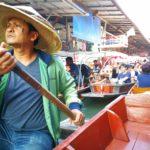 タイ | バンコク | オプショナルツアーの【パンダツアー】で【水上マーケット】へ